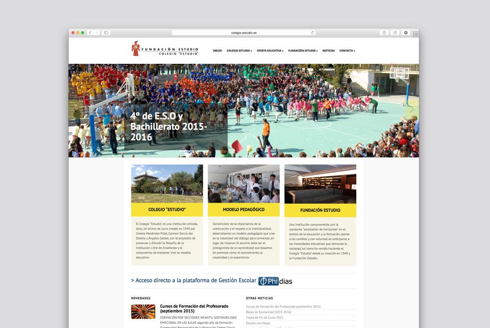 Web Colegio Fundación Estudio